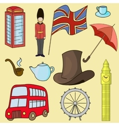 United kingdom of Great Britain symbols vector image