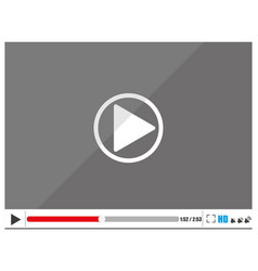 video player for web stylishly vector image