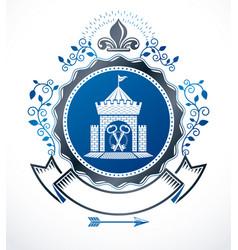 vintage heraldry design template emblem vector image