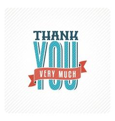 Vintage thank you card vector