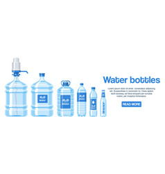 water bottles made plastic web design banner vector image