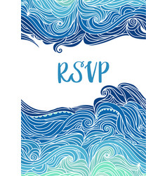 waves flyer templates white back-05 vector image