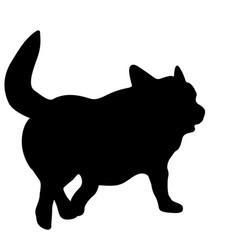 Welsh corgi dog silhouette on a white background vector