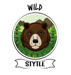 Wild animal print for t shirt vector