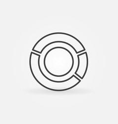 pie chart icon vector image vector image