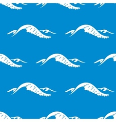 Seamless pattern of a cresting ocean wave vector image