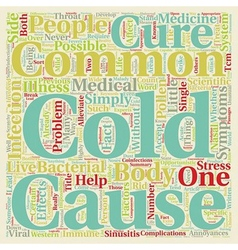 The Common Cold Can t Live With It Can t Live vector image