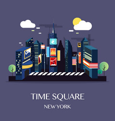 time square new york vector image vector image