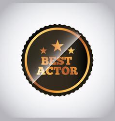 Actors awards design vector