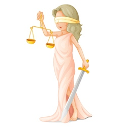 Blind justice vector image vector image