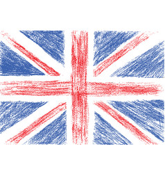Flag of UK pencil drawing vector image vector image