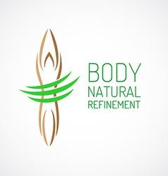 Body care logo template vector image vector image