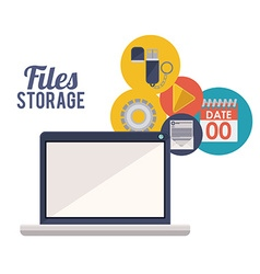 File storage design vector image