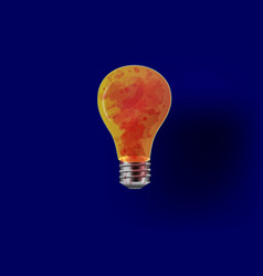 horror bloody light bulbs vector image vector image