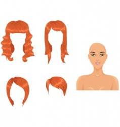 red hair vector image vector image