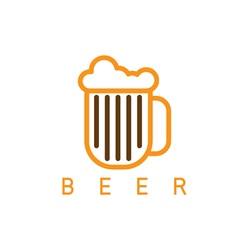 abstract icon design template of beer vector image