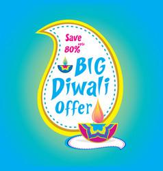 big diwali offer banner design vector image