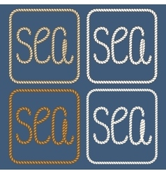 Sea nautical ropes design elements vector image