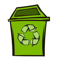 trash can recycling eco symbol vector image