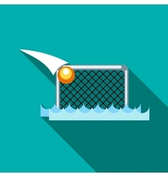 Water polo gates icon flat style vector image vector image