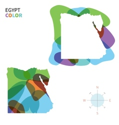 abstract color map egypt vector image