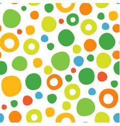 abstract seamless pattern circles vector image