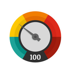 Abstract speedometer icon flat style vector