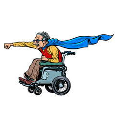 active wheelchair user disabled man vector image