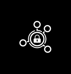Advanced security solutions icon flat design vector