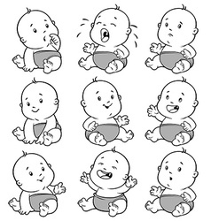 Baby toddler set cartoon on a white backgro vector image