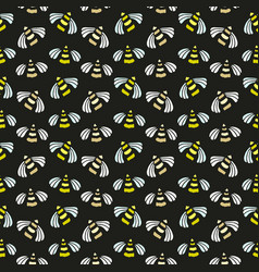 Bee seamless pattern bright background for vector