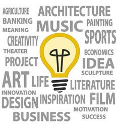 Bulb as a great idea vector