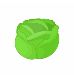 Cabbage icon in cartoon style vector image
