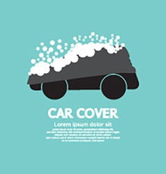 Car cover with snow graphic vector