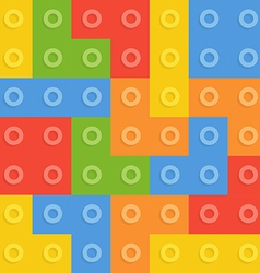 Color constructor blocks seamless pattern vector