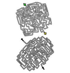 couple mazes vector image