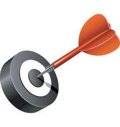 dart icon vector image