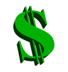 Dollar sign green vector
