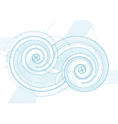 double twirls vector image vector image
