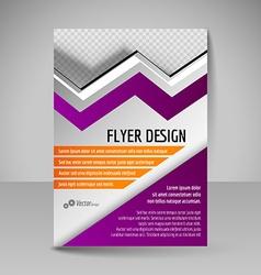 Editable A4 poster for design presentation vector