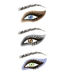 Eyes design elements - art vector image