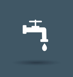 faucet icon on white background vector image
