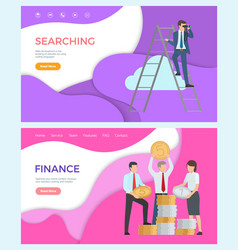 finance optimize online content web searching vector image