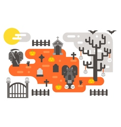 Flat design halloween infographic elements vector