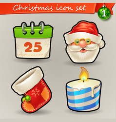 Funny christmas icons-1 vector