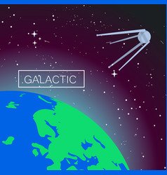 Galactic space concept background flat style vector