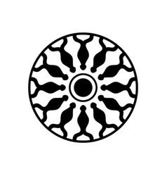 Geometric circular ball pattern vector