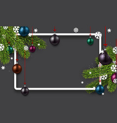 Grey background with colorful christmas balls vector