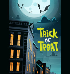 Halloween party banner trick or treat holiday vector