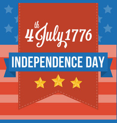 Happy independence of america vector
